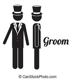 groom design - groom design over white background vector...