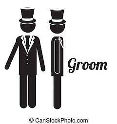 groom design - groom design over white background vector...