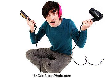 Groom hair blow dry style - Groom hair. male teenager blow...