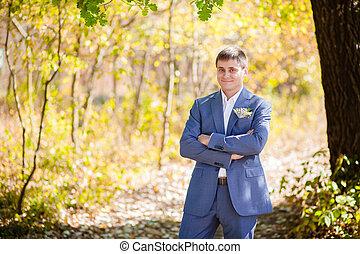 groom on the wedding