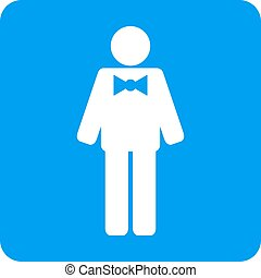 Groom Rounded Square Vector Icon