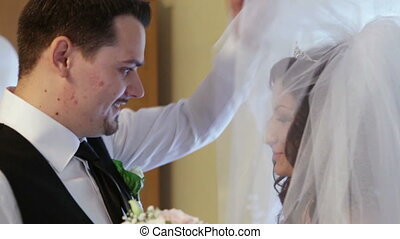 Groom sees bride first