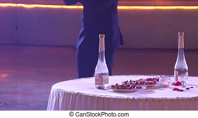 groom tells people rules of russian national game with alcohol