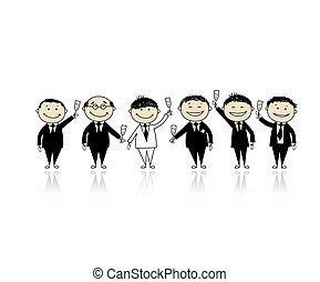 Groom with friends, stag party for your design