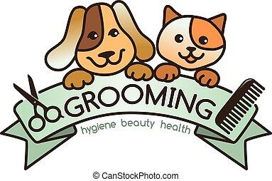 Grooming logo - creative, rigorous logo Grooming pets.