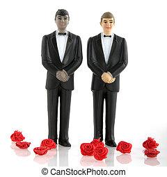 Grooms wedding - Gay wedding with man in tuxedo