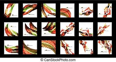 groot, abstract, set, achtergronden