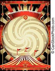 groot bovenst, room, kerstmis, circus