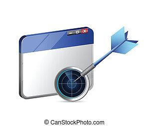 groot, concept, doel, handel illustratie, online