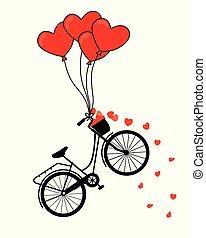groot, dag, kaart, valentine