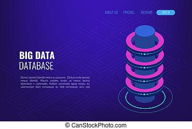 groot, data, concept, toegang, opslag, verdeling,...
