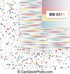 groot, data, visualization., analyse, van, information., machine, leren, algorithms., vector, illustratie