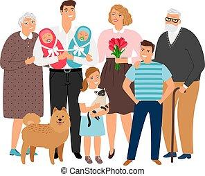 groot, familie beeltenis