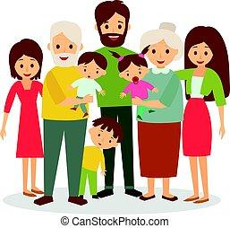 groot, gezin
