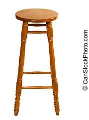 groot, houten stoel