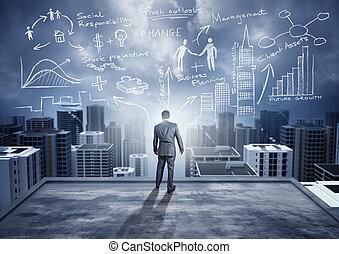 groot, ideeën, stad