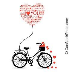 groot, kaart, voor, valentine's dag