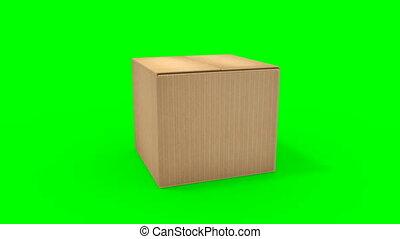 groot, karton, opening