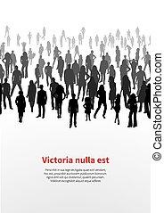 groot, mensen., vector, achtergrond, menigte
