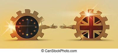 groot, metafoor, relationships., unie, brexit, groot-brittannië, europeaan