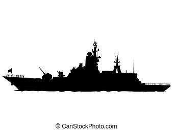 groot, oorlogsschip