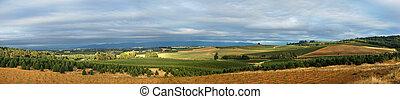 groot, panoramisch, landscape