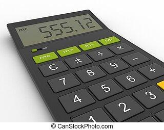 groot, rekenmachine, moderne, display, desktop