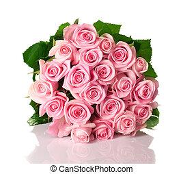 groot, rozen, bouquetten