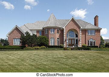 groot, thuis, baksteen, torentje