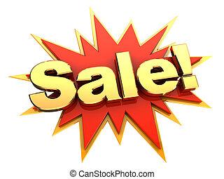 groot, verkoop, pictogram