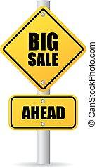 groot, verkoop teken