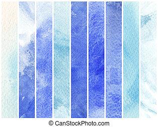 groot, watercolor, achtergrond, -, watercolor, verven, op, een, ruwe textuur, papier