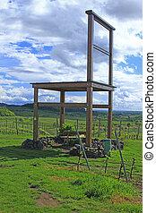 groot, wijngaarden, stoel