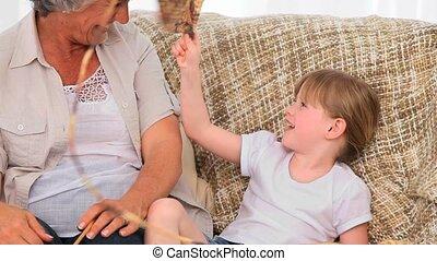 grootmoeder, breiwerk, voornaam, haar