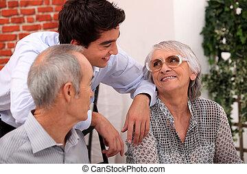 grootouders, kleinzoon