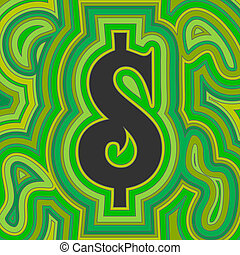 groovy, argent, -, vert, dollar
