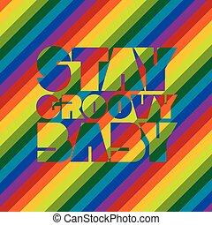 groovy, bébé, séjour