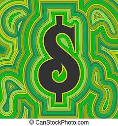groovy, geld, -, groene, dollar