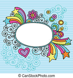 Groovy Picture Frame Border Vector - Groovy Psychedelic...