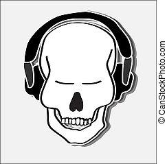 Groovy skull