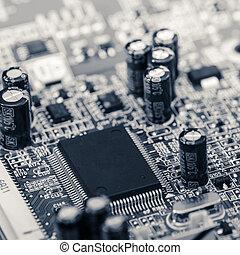 gros plan, circuit intégré