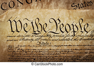 gros plan, de, les, etats-unis, constitution