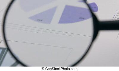 gros plan, diagram., lilas, verre., rotation, magnifier