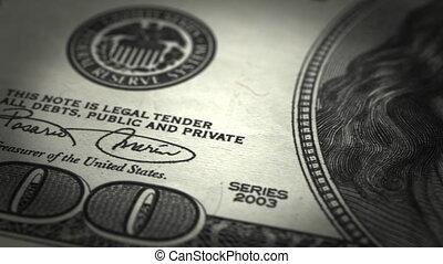 gros plan, dollar