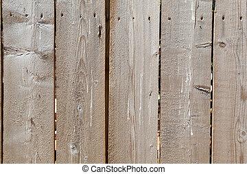 gros plan, entiers, inachevé, barrière, armature bois, rugueux