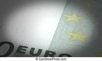 gros plan, euro