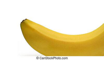 gros plan, fond blanc, banane