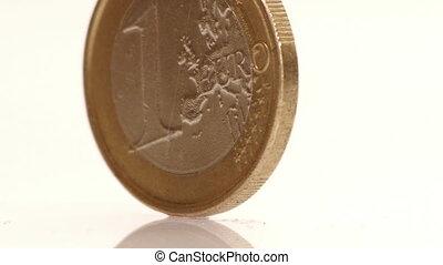 gros plan, hd, -, euro., coin.