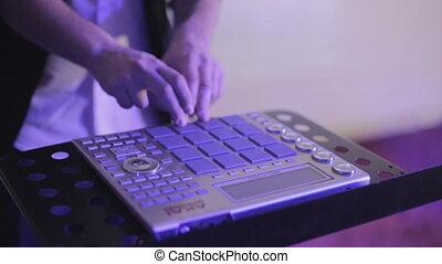gros plan, jouer, contrôleur, club, musique