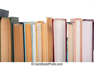 gros plan, livres